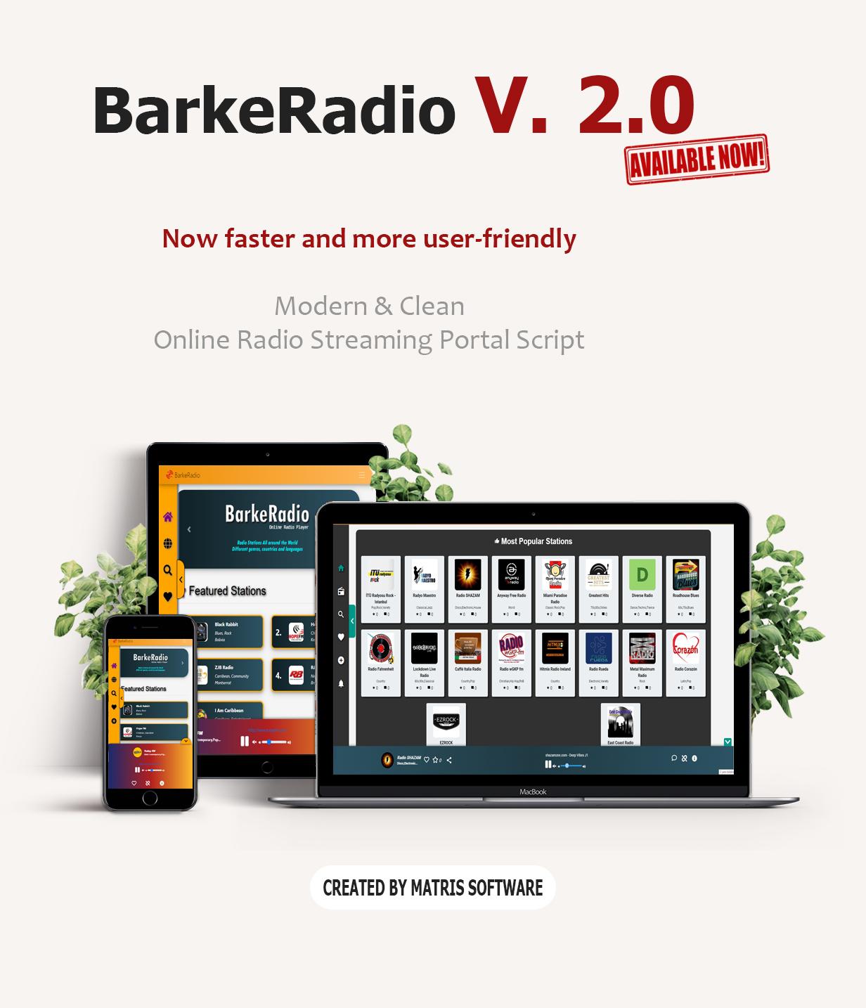 Barker Radio - Online Radio Portal